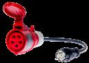 Trifazio 32A lizdo adapteris testeriams PAT-800, PAT-805 ir PAT-806
