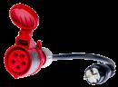 Trifazio 16A lizdo adapteris testeriams PAT-800, PAT-805 ir PAT-806
