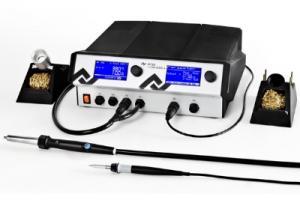 500W Antistatinė keturkanalė (iš)litavimo stotis i-CON VARIO 4 su  valdymo sąsaja, karšto oro lituokliu i-Tool AIR S ir 150W lituokliu i-Tool