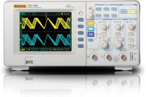 100 MHz, 2-jų kanalų, 1 GS/s skaitmeninis osciloskopas