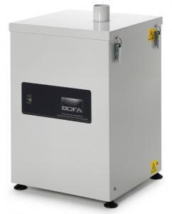 Centrializuota litavimo dūmų ištraukimo 22-30 l/min greičiu ties kiekvienu iš 15 lituoklių antgalių filtravimo sistema T15