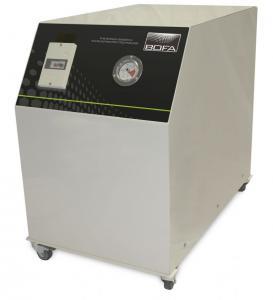 Centrializuota litavimo dūmų ištraukimo 22-30 l/min greičiu ties kiekvienu iš 60 lituoklių antgalių filtravimo sistema T60