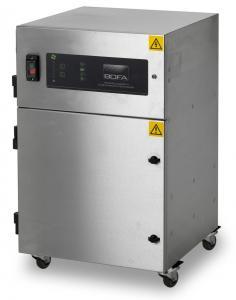 Centrializuota litavimo dūmų ištraukimo 22-30 l/min greičiu ties kiekvienu iš 30 lituoklių antgalių filtravimo sistema T30A