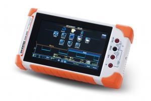 70MHz, 2 kanalų, 1GSa/s, 1Mtšk. nešiojamasis osciloskopas su spalviniu lietimui jautriu ekranu ir integruotu 3,75 skaitmens multimetru