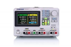 Trijų nepriklausomų kanalų, 220W programuojamas linijinis DC maitinimo šaltinis  30V/3A X2, perjungiamas kanalas 2.5V/3.3V/5V/3A X1;4-ių skaitmenų įtampos atvaizdavimas, 3-jų skaitmenų srovės atvaizdavimas; raiška 10mV, 10mA; TFT-LCD ekranas; laikmačio fu