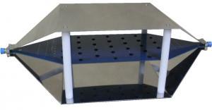 Atviroji TEM celė, centrinio laidininko aukštis 150 mm, su 50Ω-3GHz-25W-N apkrova, 50V-6GHz-N užtvara nuolatinei srovei ir N(m)-N(m) bendraašiu kabeliu
