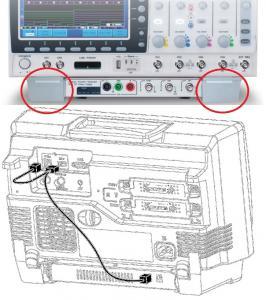 GDS-2000A serijos osciloskopo niša AFG-125/225(P) moduliui ir USB A - A/B kabelis-adapteris