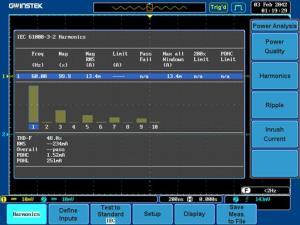 Galios analizės programinė įranga: Elektros kokybės/harmonikų/pulsacijų/paleidimo srovės matavimas