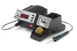 80W skaitmeninė visiškai antistatinė litavimo stotelė DIGITAL 2000 A su plonu antistatiniu lituokliu Micro Tool