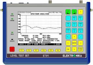100 Hz - 2.4 MHz selektyvus/plačiajuostis lygio matuoklis ir generatorius su spektro analizatorium ir Z/RL/LCL matavimo tilteliu