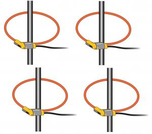 4-fazių Flex lanksčių ir plonų 3000A, 40Hz - 5kHz, srovės matavimo kilpų rinkinys (1735/1743)