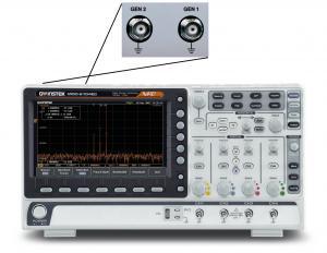 100MHz, 4-ių kanalų, 1GS/s skaitmeninis osciloskopas, 500MHz RD spektro analizatorius ir 2-jų kanalų, 25MHz laisvos formos signalų generatorius