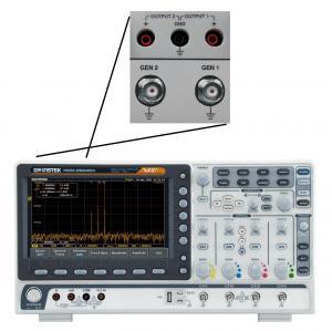 200MHz, 4-ių kanalų, 1GS/s skaitmeninis osciloskopas, 500MHz RD spektro analizatorius, 2-jų kanalų, 25MHz laisvos formos signalų generatorius, 3,75 skaitmens multimetras ir 2-jų kanalų maitinimo šaltinis