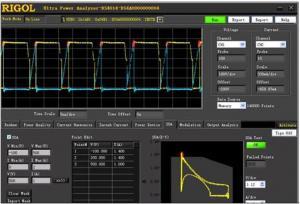 Galios analizės su DS2, DS4, & MSO4 osciloskopais programinė įranga UltraPower Analyzer.