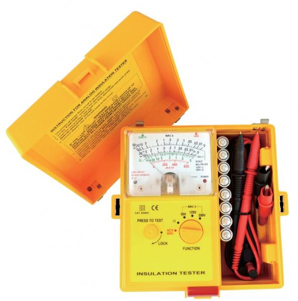 Analogue insulation tester for telecoms
