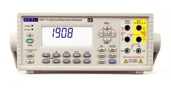 5,5 skaitmens (iki 120 000) du parametrus vienu metu matuojantis skaitmeninis multimetras su USB sąsaja