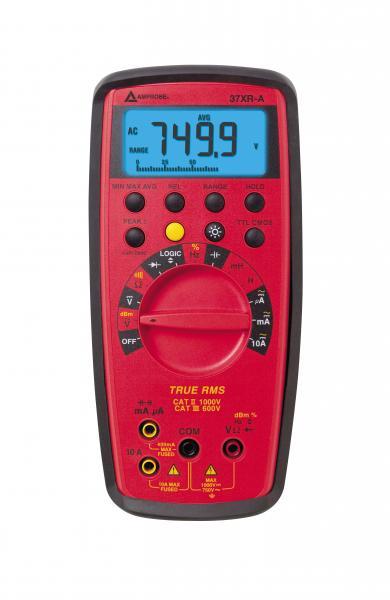 4 skaitmenų TRMS Profesionalus multimetras su komponentų ir loginių signalų testavimu
