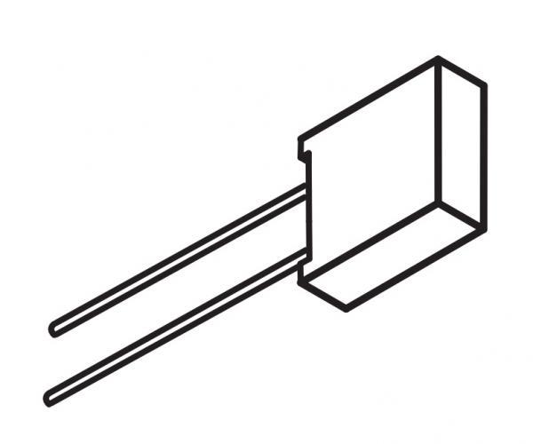 Srovės matavimo šuntas, 100 Ω ±0,1%, maksimali srovė 55 mA