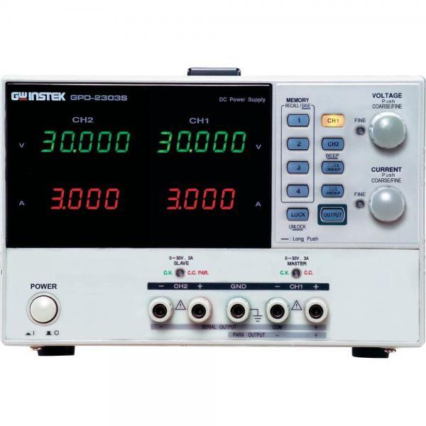 Dviejų kanalų 180W programuojamas linijinis DC maitinimo šaltinis 30V, 3A x 2 su USB sąsaja