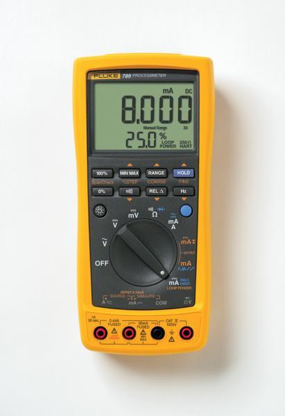 3,4 skaitmens multimetras - uždarųjų sistemų 4-20mA srovės matuoklių kalibratorius ProcessMeter™ su 24Vdc maitinimo šaltiniu