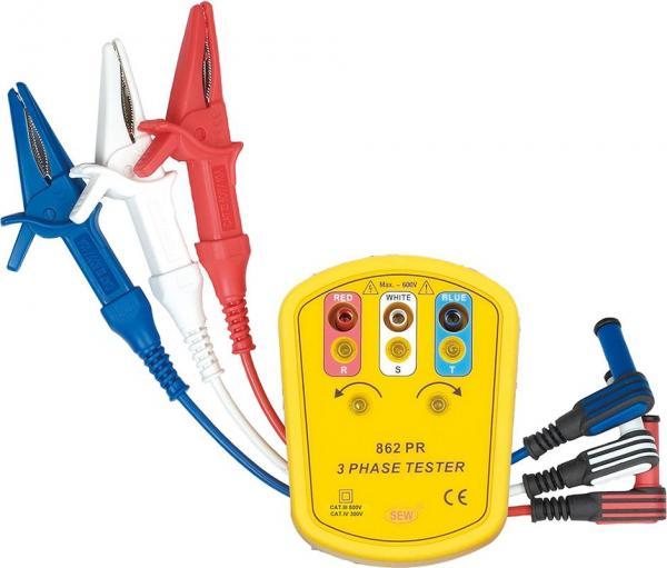 Fazių sekos indikatorius (100-600V) 45-70 Hz