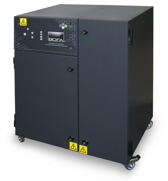 """267m³/h juvelyrinių gaminių mechaninio apdirbimo lazeriu dūmų ištraukimo ir filtravimo bei tauriųjų metalų dulkelių surinkimo """"seifas"""" AD GoldSEAL + Cyclone  su užrakinamu filtru ir nuotolinio įjungimo / išjungimo moduliu"""