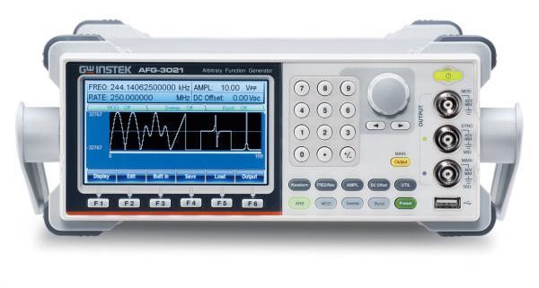 1 izoliuoto kanalo, 20MHz, 20Vpp, 250MSa/s, 16bit, 8Mtšk. laisvos formos ir funkcinių signalų generatorius