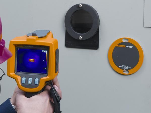 100mm skersmens IR spindulius praleidžiantis termovizinės kontrolės langas