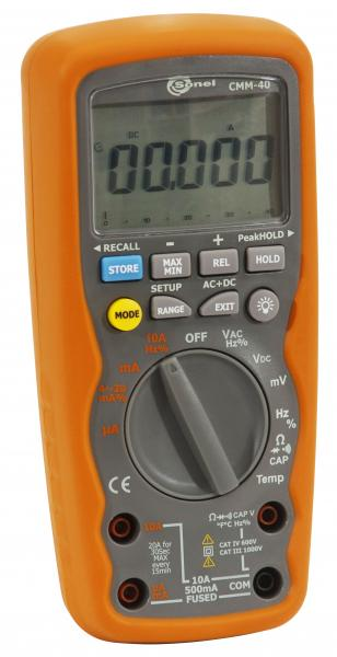 4.4 digit industrial multimeter CMM-40; CAT III/1000V TRMS AC/DC