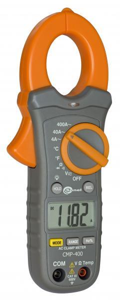 Kintamosios AC srovės iki 400A matavimo replės CMP-400 su bekontakčiu AC įtampos indikatoriumi