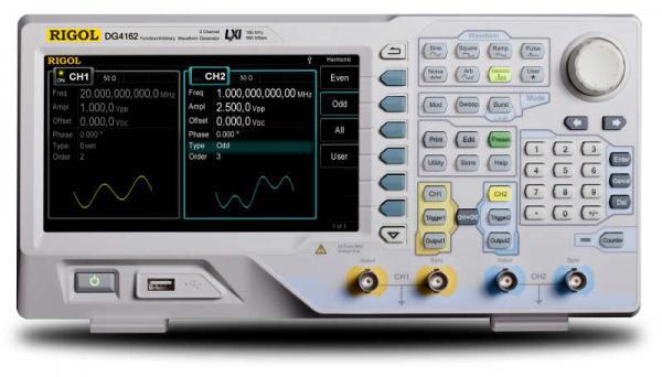 2-jų kanalų, 200MHz, 500MS/s, 14 bitų, 16 ktšk. laisvos formos ir funkcinių signalų generatorius
