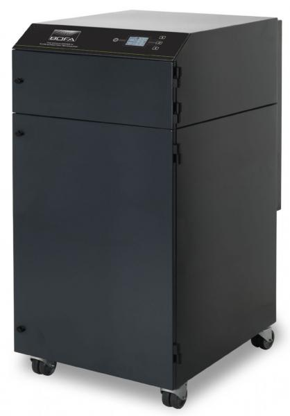 1350m³/h tiek rankinio (iki 20 darbo vietų), tiek mašininio litavimo dūmų ištraukimo ir filtravimo sistema V1500 iQ PC
