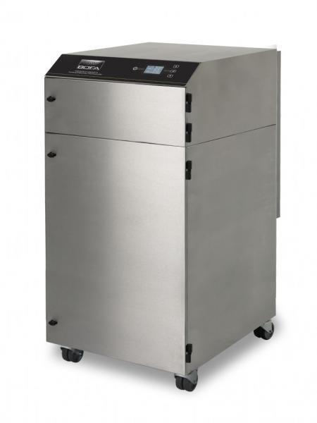 850m³/h tiek rankinio (iki 15 darbo vietų), tiek mašininio litavimo dūmų ištraukimo ir filtravimo sistema V1000 iQ SS