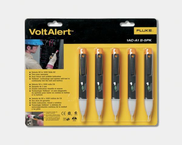 Bekontaktis 90-1000V AC įtampos indikatorius VoltAlert™ su garsiniu perspėjimu, 5vnt. pak.