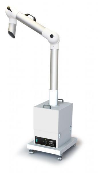 380m³/h mobilus dūmų ir mechaninių oro priemaišų ištraukimo ir filtravimo įrenginys FumeKART su standžia 75 mm Ø ištraukimo rankove