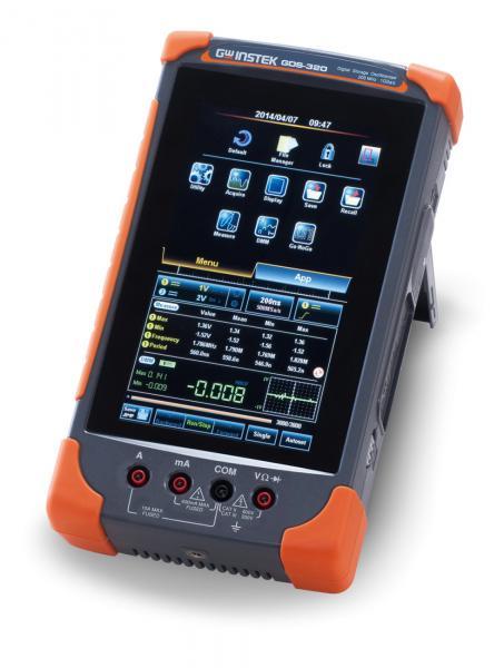200MHz, 2 kanalų, 1GSa/s, 5Mtšk. nešiojamasis osciloskopas su spalviniu lietimui jautriu ekranu ir integruotu 4,75 skaitmens multimetru