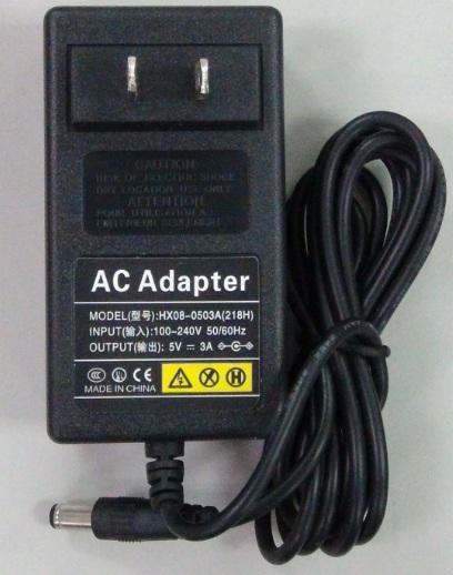 Laisvos formos signalų generatorių AFG-125/225(P) maitinimo šaltinis 5V/3A su universaliu kištuku