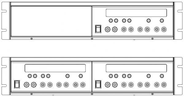 """Srovės matavimo šunto PCS-1000 montavimo į 19"""" spintą EIA standarto rinkinys"""