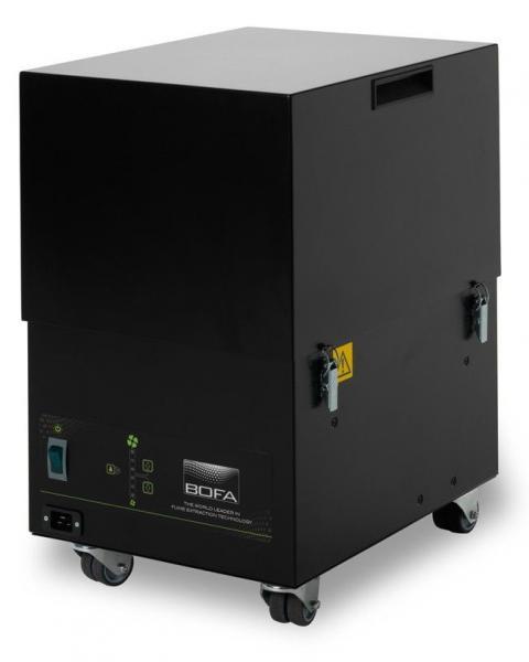 380m³/h spaustuvės dūmų ištraukimo ir filtravimo sistema PrintPRO Universal