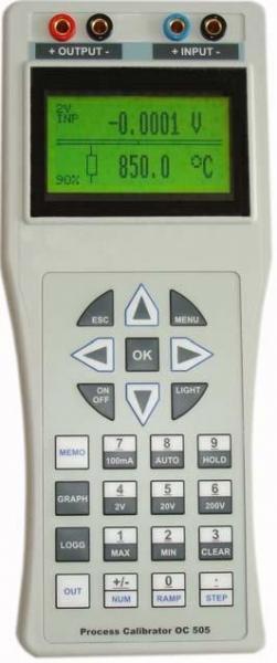 Daugiafunkcinis technologinio proceso temperatūros matuoklių kalibratorius 0-22mA, 0-25V