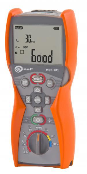 Liekamosios srovės įtaisų (RCD) testeris MRP-201
