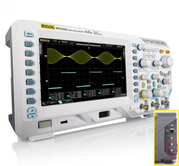 300 MHz, 2-jų kanalų, 2 GS/s skaitmeninis osciloskopas su 16 kanalų loginiu analizatoriumi ir 2-jų kanalų laisvos formos signalų generatoriumi
