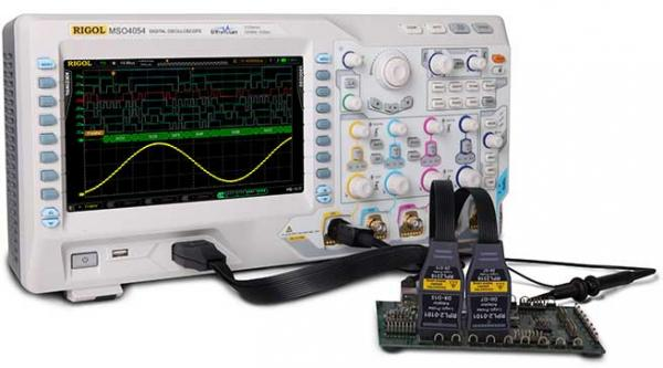 500 MHz, 4-ių kanalų, 4 GS/s skaitmeninis osciloskopas su 16 kanalų loginiu analizatoriumi