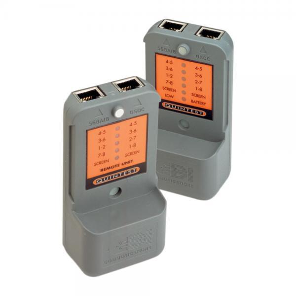 UTP ir STP kabelių ir sumontuotų tinklų testeris su tono generatorium