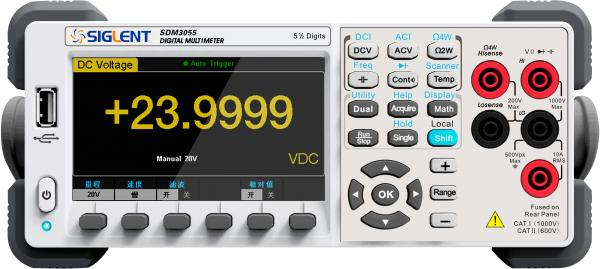 """5,5 skaitmens skaitmeninis multimetras su išorinių kanalų skeneriu SC1016, matavimo dažnis 150kart./s, 4,3"""" (480x272) TFT-LCD ekranas, TRUE RMS AC kintamos įtampos ir srovės matavimas, USB sąsaja"""