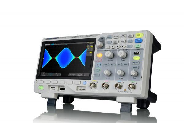 """100MHz, 4-ių kanalų skaitmeninis osciloskopas, 1GS/s, 14Mtšk., signalo atvaizdavimo ekrane dažnis 100,000kart./s, ekranas 7""""(800x480), SPO technologija ,1 Mtšk. FFT, dekodavimas IIC, SPI, UART, RS232, CAN, ir LIN, palaiko: MSO. USB AWG, Bode Plot, USB WIF"""