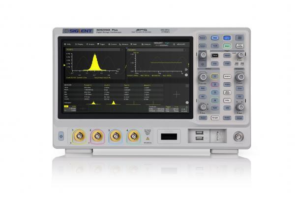 """350MHz, 4-ių kanalų skaitmeninis osciloskopas, 2GS/s, atmintis 200Mtšk., signalo atvaizdavimo ekrane dažnis 120,000kart./s, liečiamas ekranas 10.1""""(1024x600), SPO technologija (Funkcinio generatoriaus, 16 kanalų loginio analizatoriaus parinktys)"""