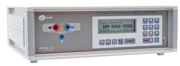 Automatinis rodyklinių ir skaitmeniniams izoliacijos varžos matuoklių kalibratorius SRP-50k0-100G0