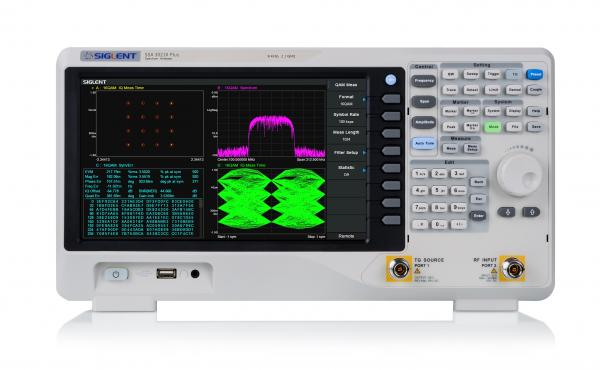 "9kHz-2.1GHz RD spektro analizatorius + TG, Fazinis triukšmas<-98dBc/Hz, RBW 1Hz-1MHz, Min. DANL -161dBm/Hz, Bendras amplitudės tikslumas<0.7dB, 10.1"" WVGA(1024x600) lietimui jautrus ekranas"