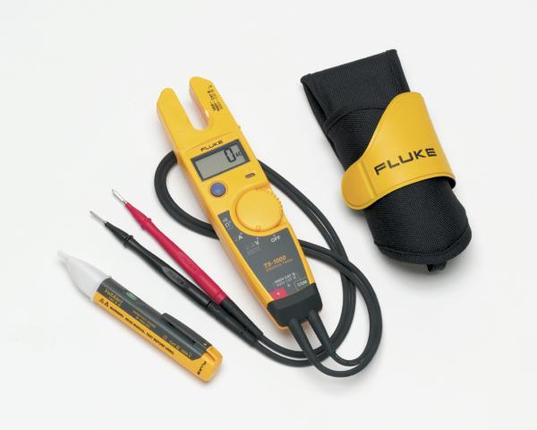 Dvipolis įtampos, srovės ir elektros grandinių testeris, dėklas ir 1AC įtampos indikatorius